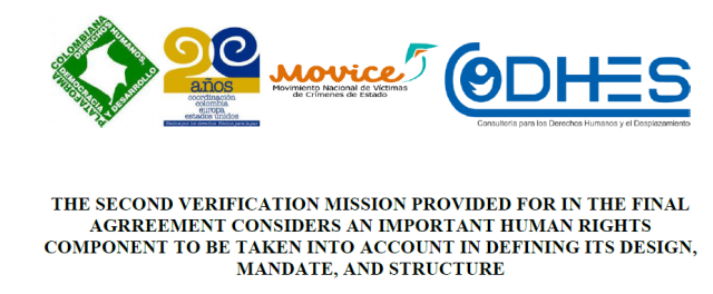 THE SECOND VERIFICATION MISSION PROVIDED FOR IN THE FINAL AGREEMENT CONSIDERS AN IMPORTANT HUMAN RIGHTS COMPONENT TO BE TAKEN INTO ACCOUNT IN DEFINING ITS DESIGN, MANDATE, AND STRUCTURE