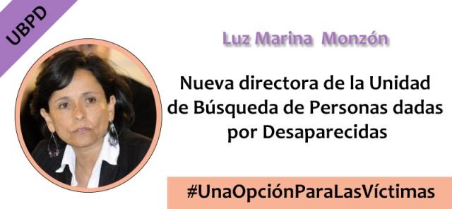 Luz Marina Monzón, nueva directora de la Unidad de Búsqueda (UBPD)