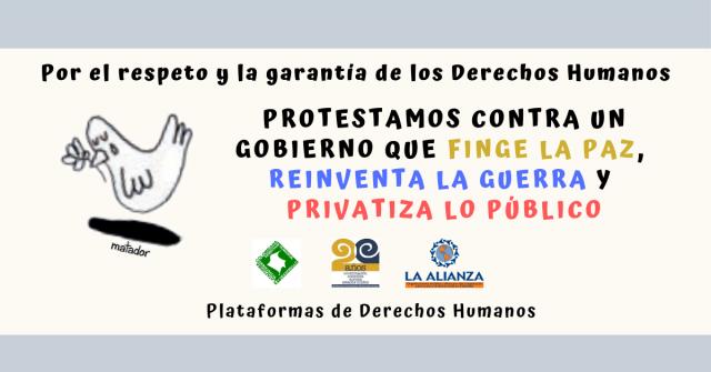 La Cumbre Agraria Campesina, Étnica Y Popular, y Las Plataformas De Derechos Humanos, convocamos y respaldamos el Paro Nacional de este 21 de noviembre y exigimos al gobierno colombiano respeto y garantías al derecho a la protesta.