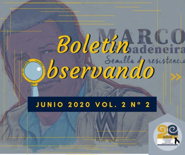 Observando No. 2, Volumen 2: CRISIS HUMANITARIAS EN LOS TERRITORIOS MAS AFECTADOS POR EL CONFLICTO ARMADO EN COLOMBIA