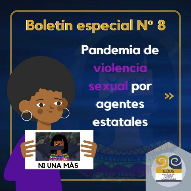 Boletín Especial No. 8 – PANDEMIA POR VIOLENCIA SEXUAL Y VIOLENCIAS BASADAS EN GÉNERO POR AGENTES ESTATALES