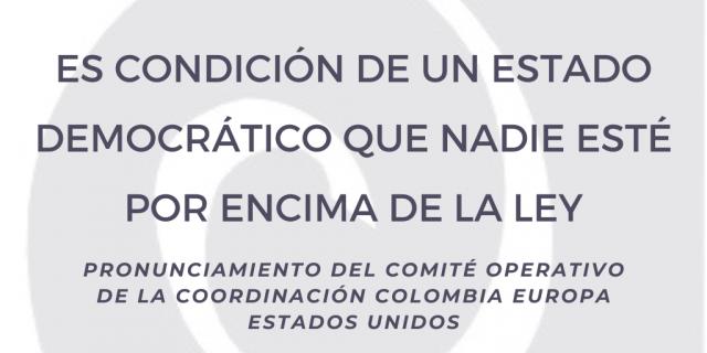 ES CONDICIÓN DE UN ESTADO DEMOCRÁTICO QUE NADIE ESTÉ POR ENCIMA DE LA LEY