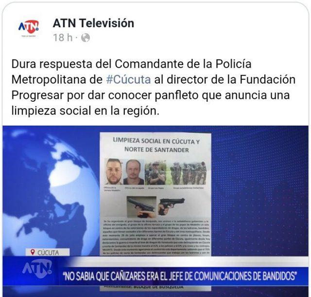 Las Plataformas colombianas de derechos humanos rechazan las afirmaciones temerarias del coronel José Luis Palomino López en contra del defensor de derechos Humanos Wilfredo Cañizares y respaldan su labor