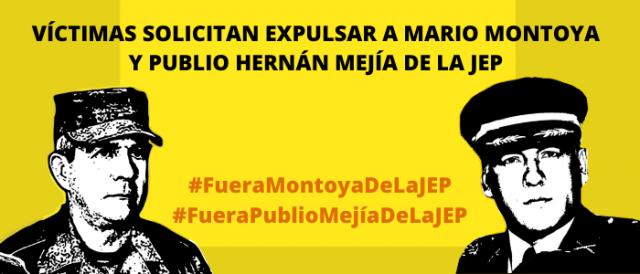 Víctimas solicitan expulsar a Mario Montoya y Publio Hernán Mejía de la JEP